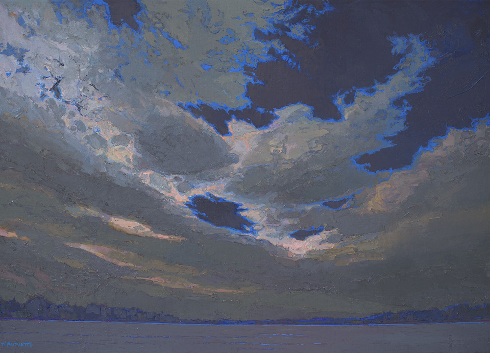 contemporary oil painting of Mississippi River - Lake Itasca, MN