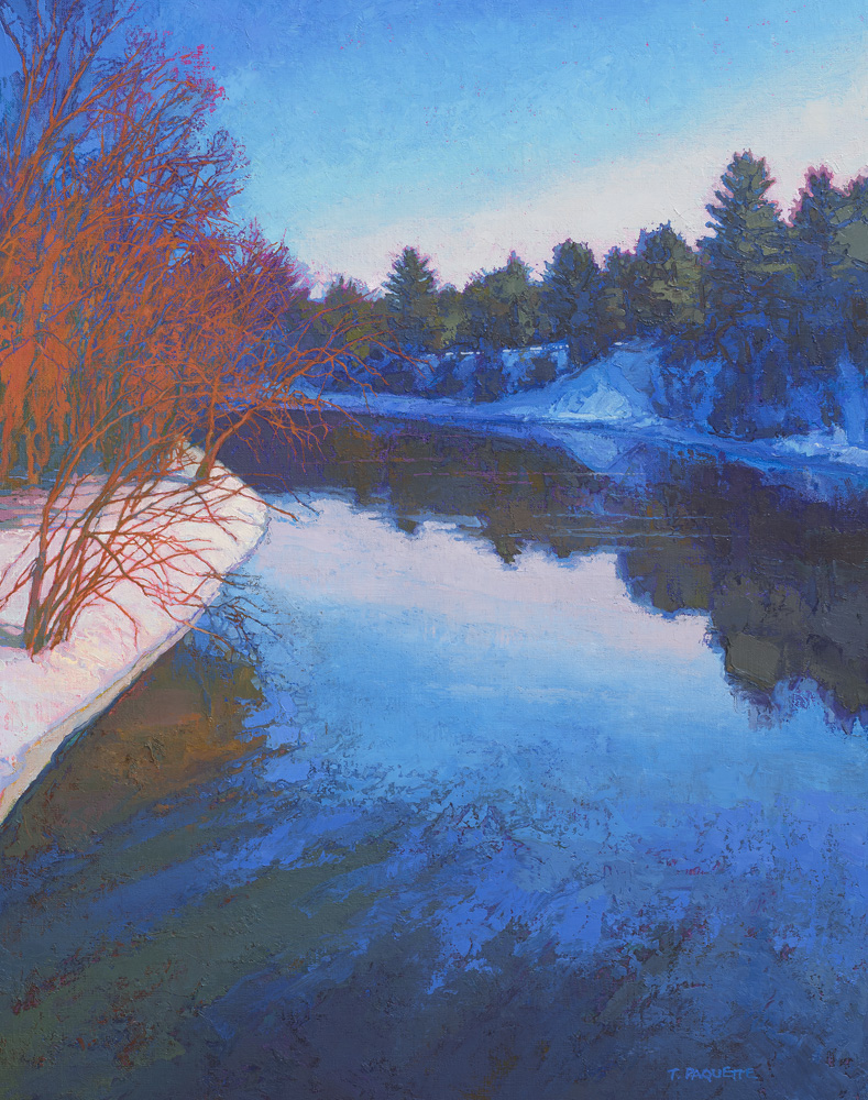 contemporary oil painting of Mississippi River - near Grand Rapids, MN