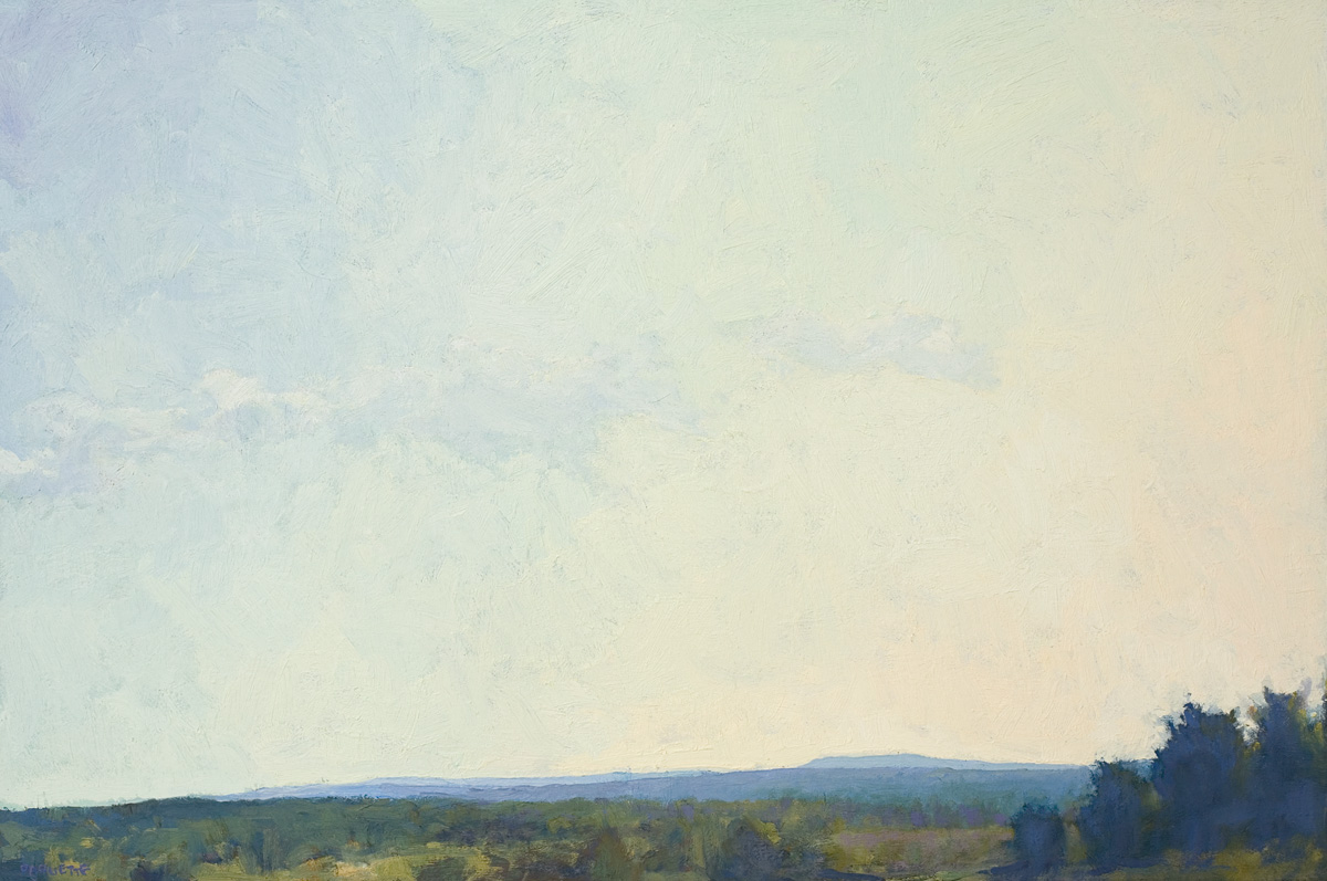 contemporary landscape oil painting of Maine