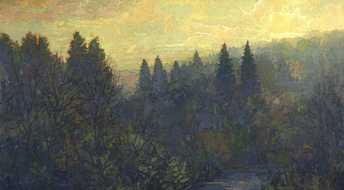 contemporary landscape oil painting of northern Minnesota landscape - Weisman Art Museum collection