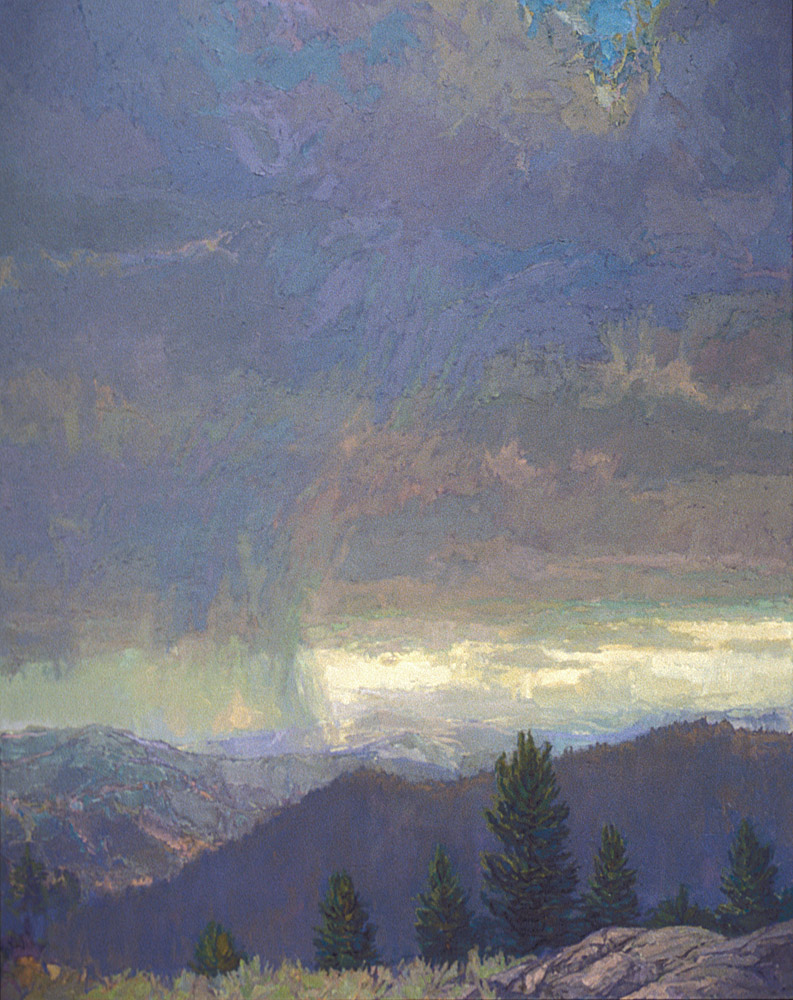 contemporary landscape oil painting of Montana landscape -Federal Reserve Bank of Minneapolis