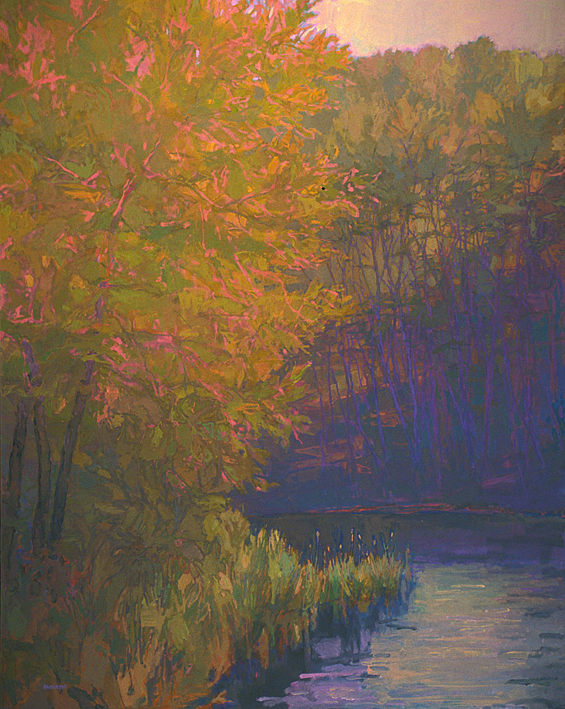contemporary landscape oil painting of Minnesota landscape -Federal Reserve Bank of Minneapolis