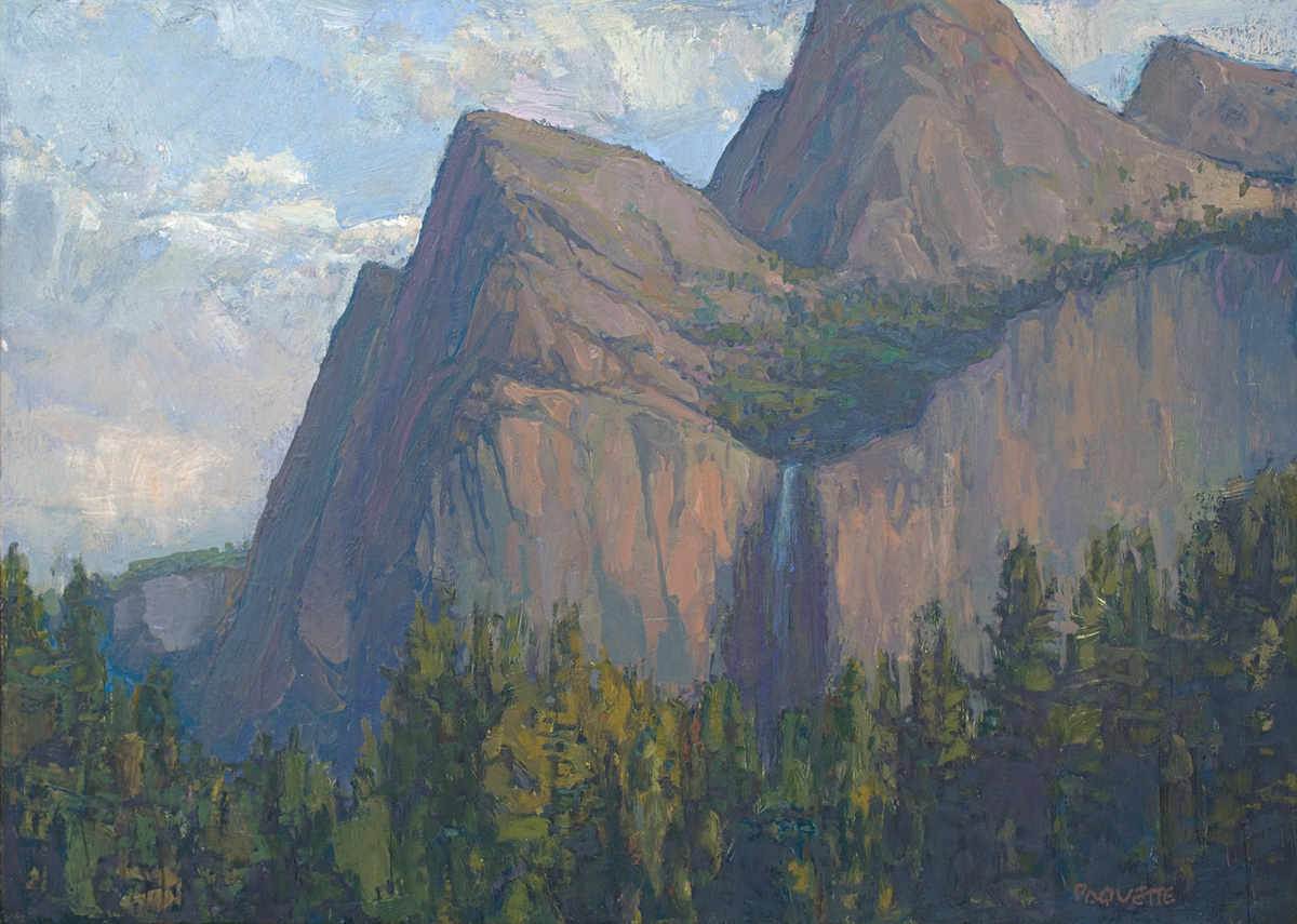 contemporary landscape oil painting of Yosemite