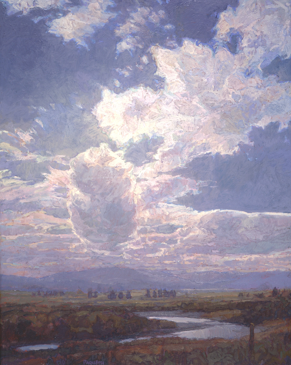 contemporary landscape oil painting of Madison River, Montana