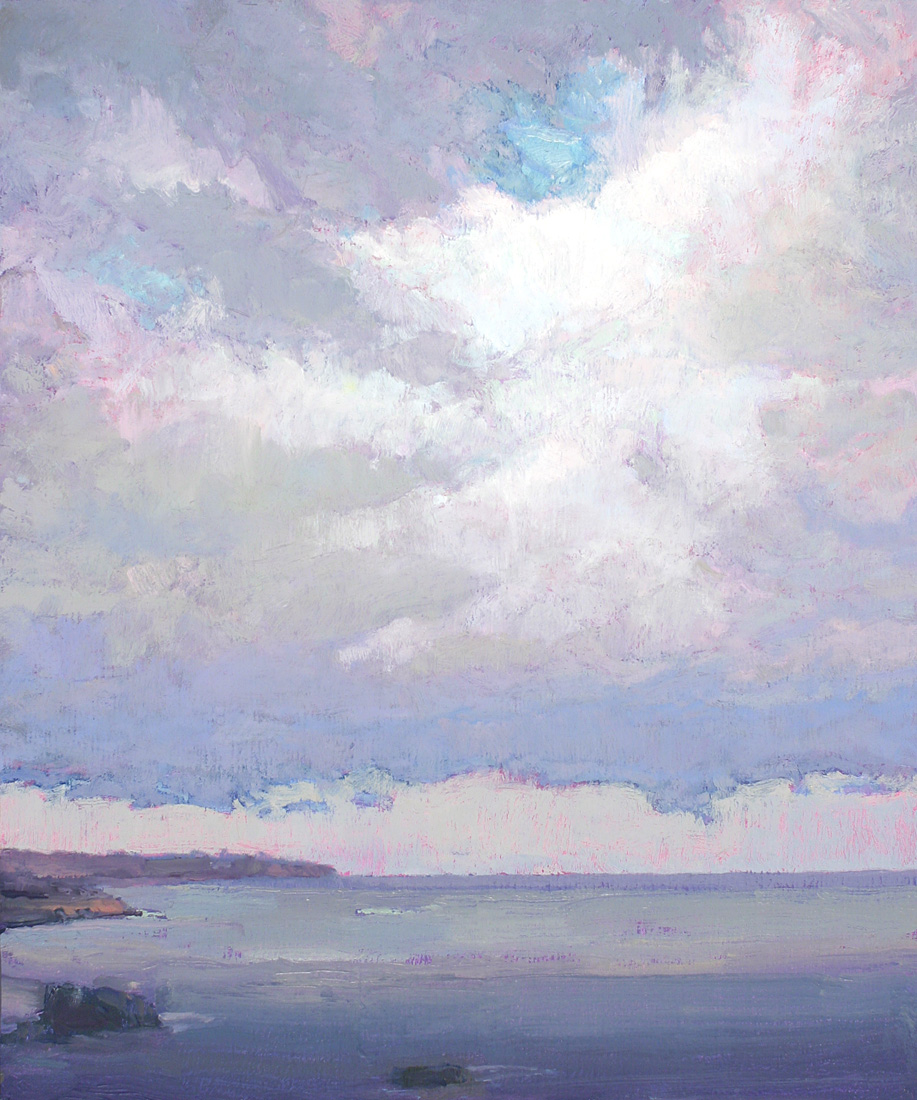contemporary landscape oil painting of Bristol Channel, UK