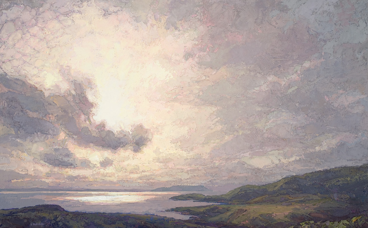 contemporary landscape oil painting of Skye, Scotland