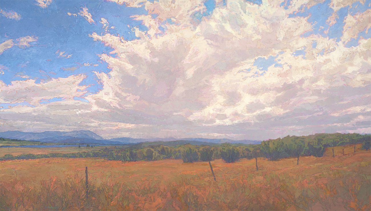 contemporary landscape oil painting of Colorado upland landscape, Aspen Valley area