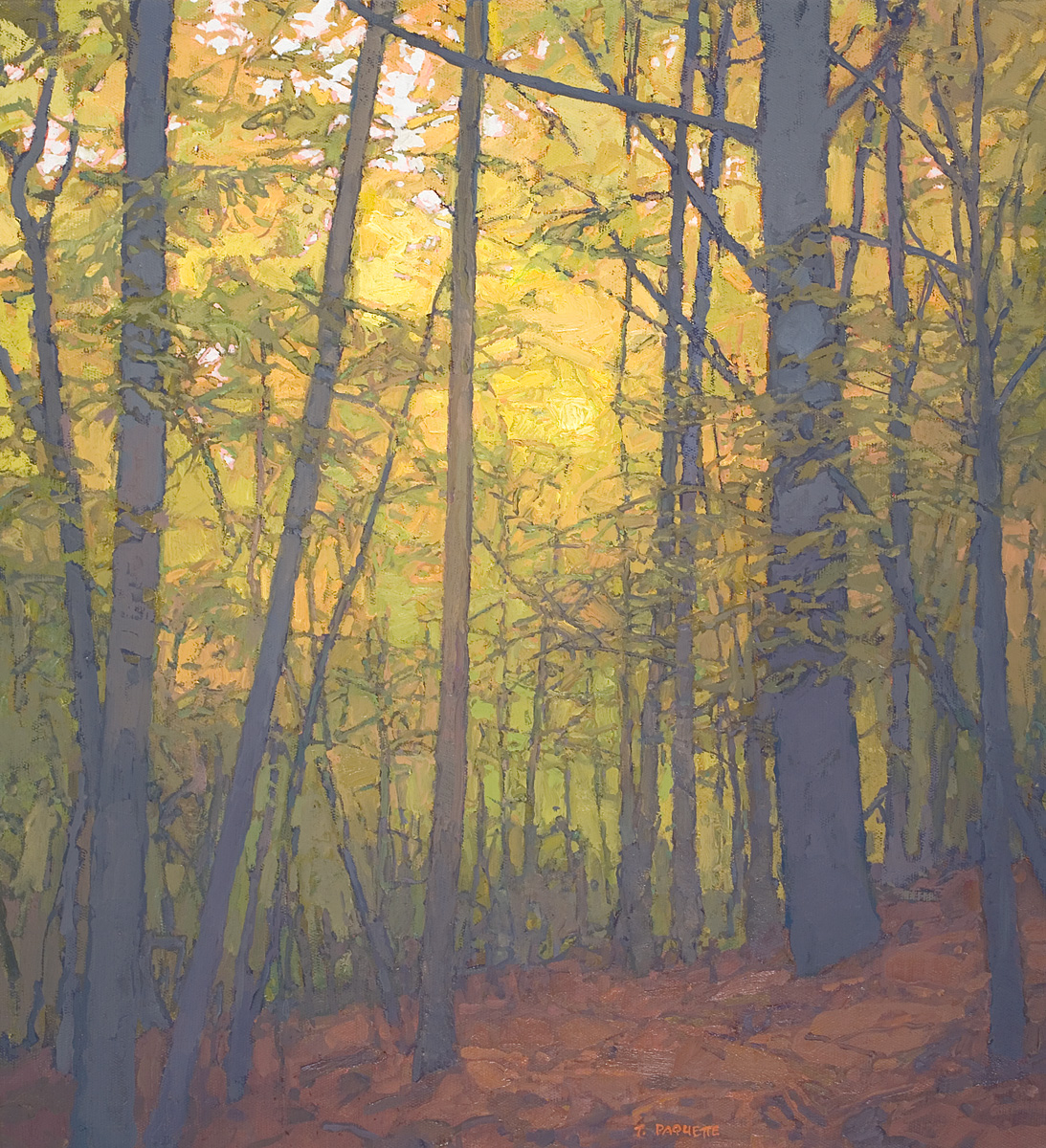 contemporary landscape oil painting of Nature Conservancy's Pawling Reserve, New York