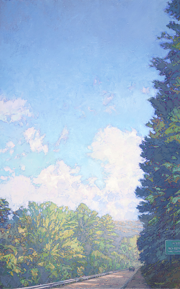 contemporary landscape oil painting of Lincoln Highway, Pennsylvania