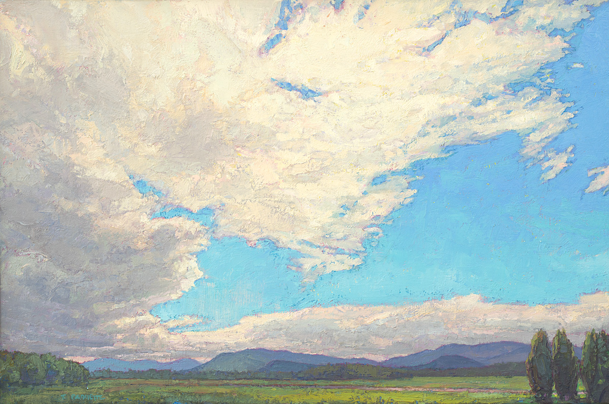 contemporary landscape oil painting of Adirondack Park