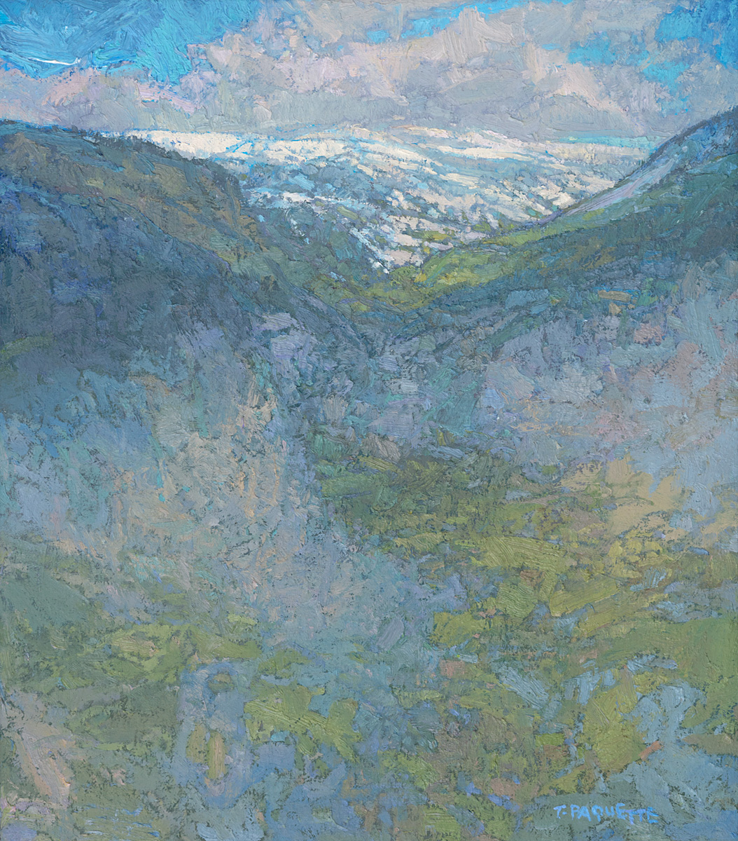 contemporary landscape oil painting near Colmars-les-Alpes, France