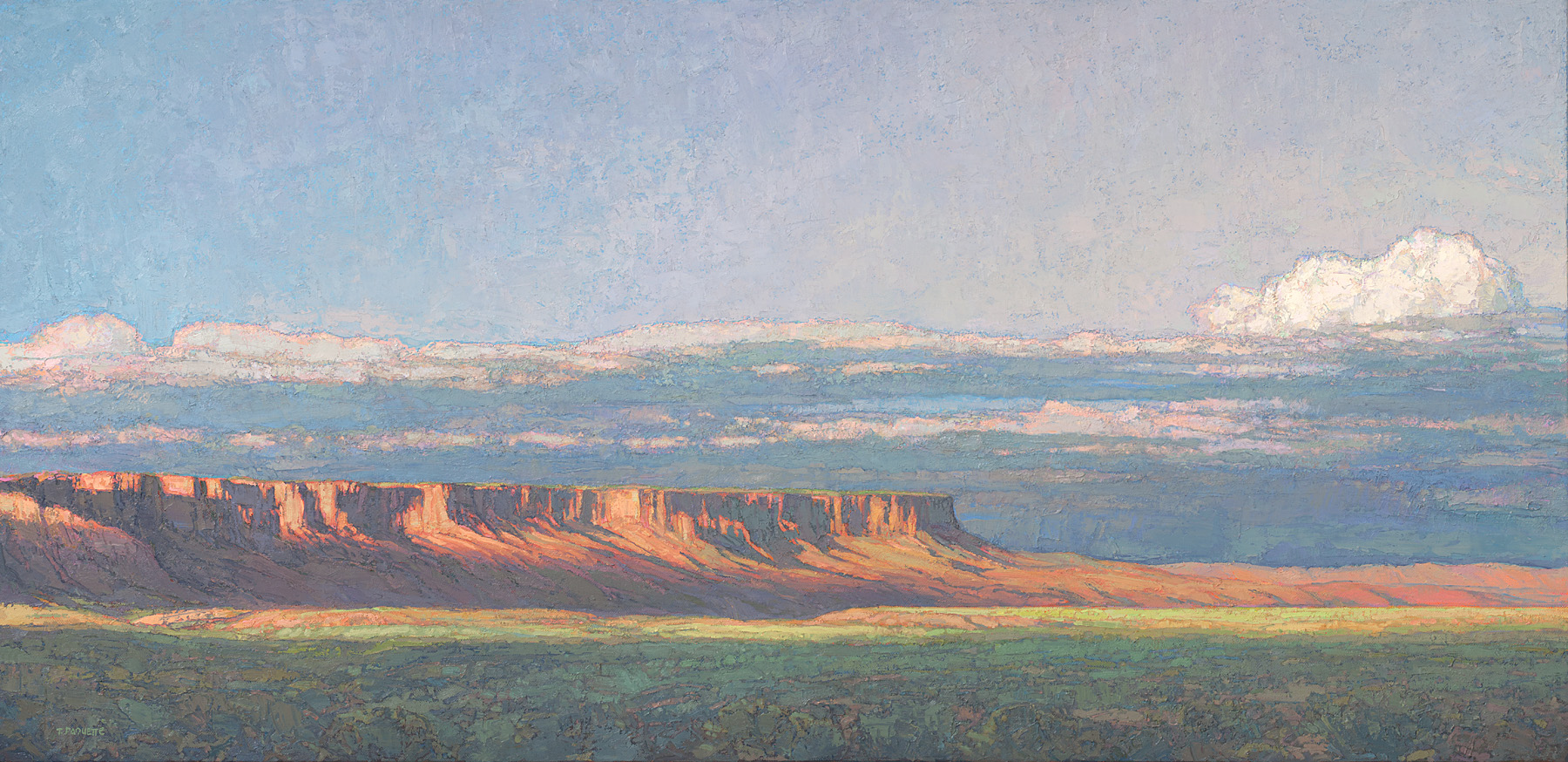 contemporary landscape oil painting of Vermilion Cliffs Wilderness Area, AZ