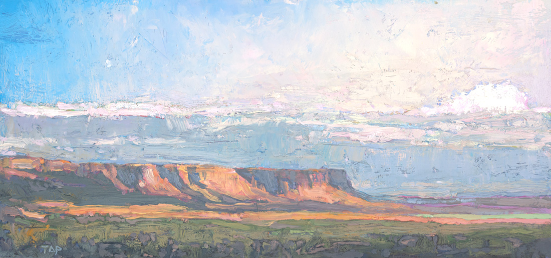 contemporary landscape oil painting of Vermilion Cliffs wilderness area in Arizona