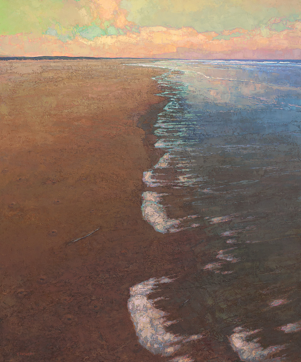 contemporary landscape oil painting of Georgia coastal beach island