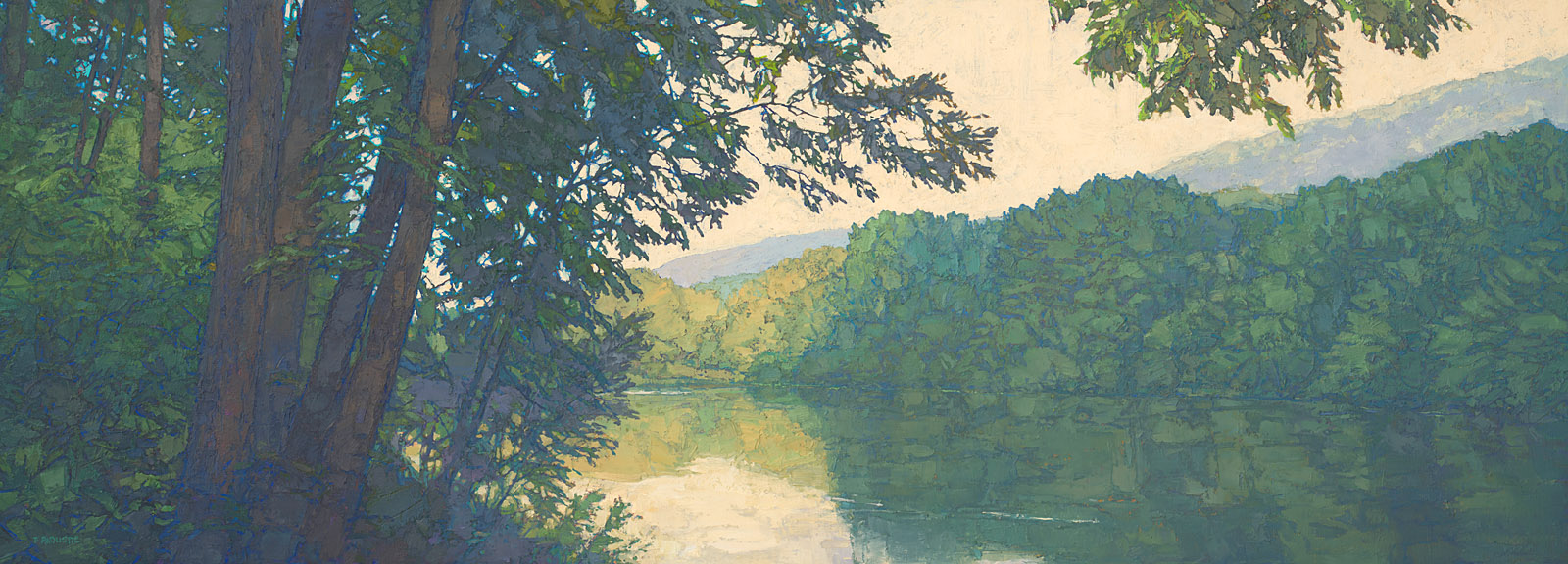 contemporary landscape oil painting of Allegheny Islands Wilderness Area