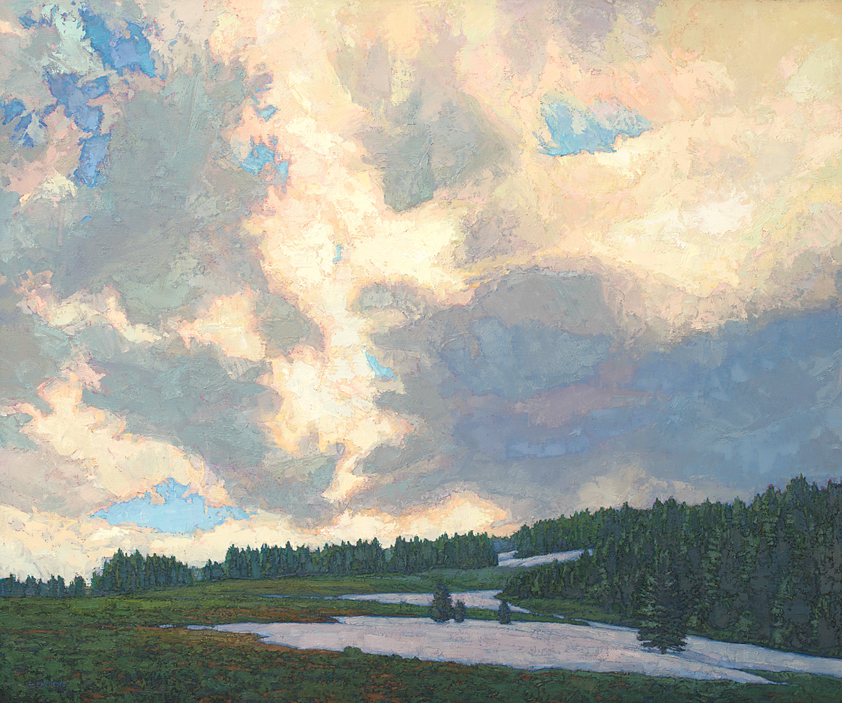 contemporary landscape oil painting of Cloud Peak Wilderness area, Wyoming