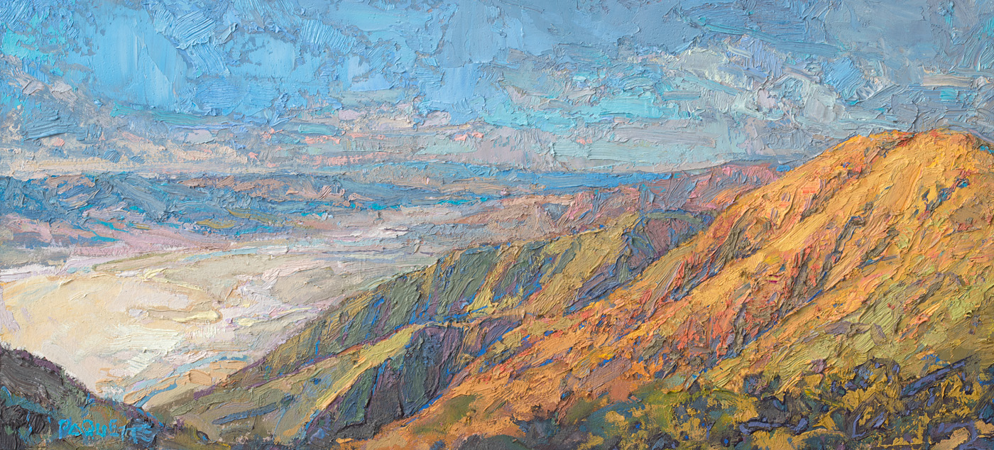 tiny contemporary landscape oil painting of Death Valley