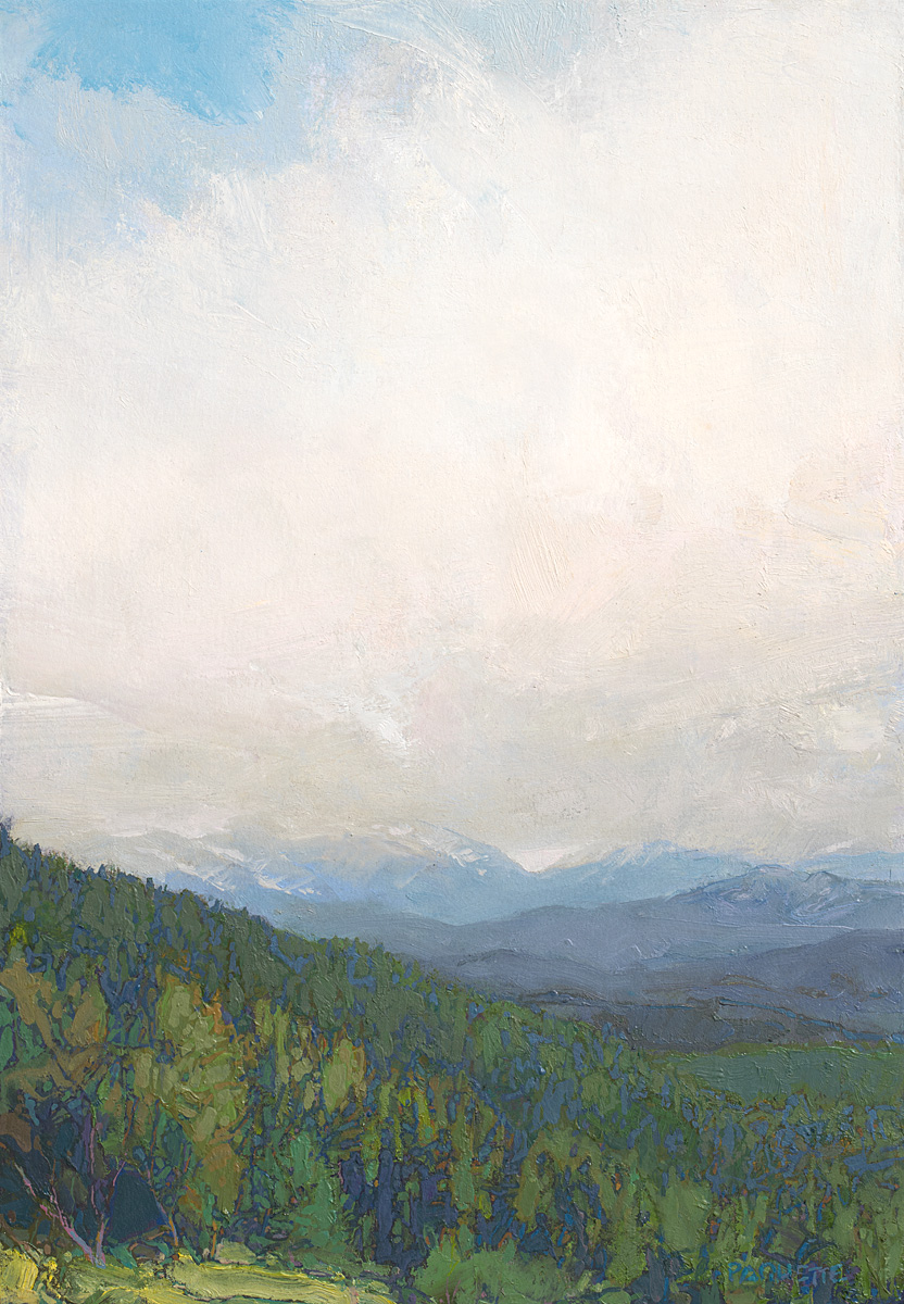 contemporary landscape oil painting of wilderness area in Yellowstone region