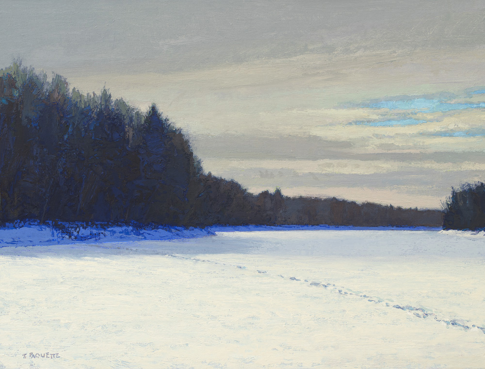 contemporary oil painting of Mississippi River - northern Minnesota