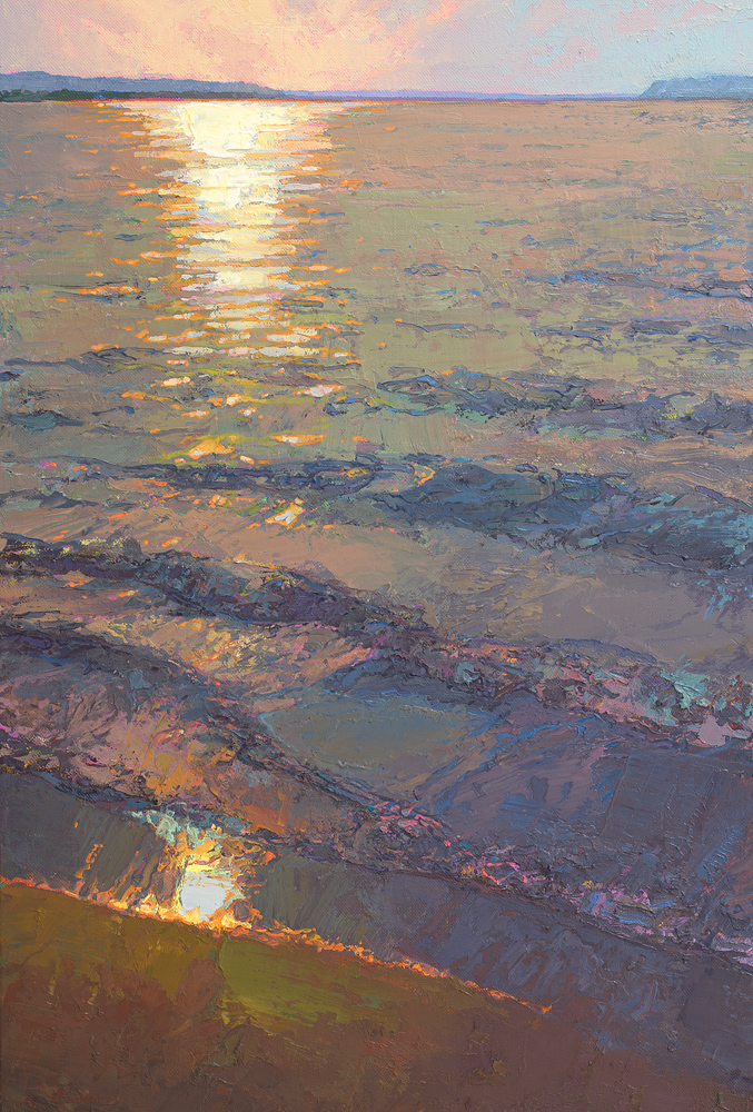 Trempealeau: Mississippi River beach oil painting