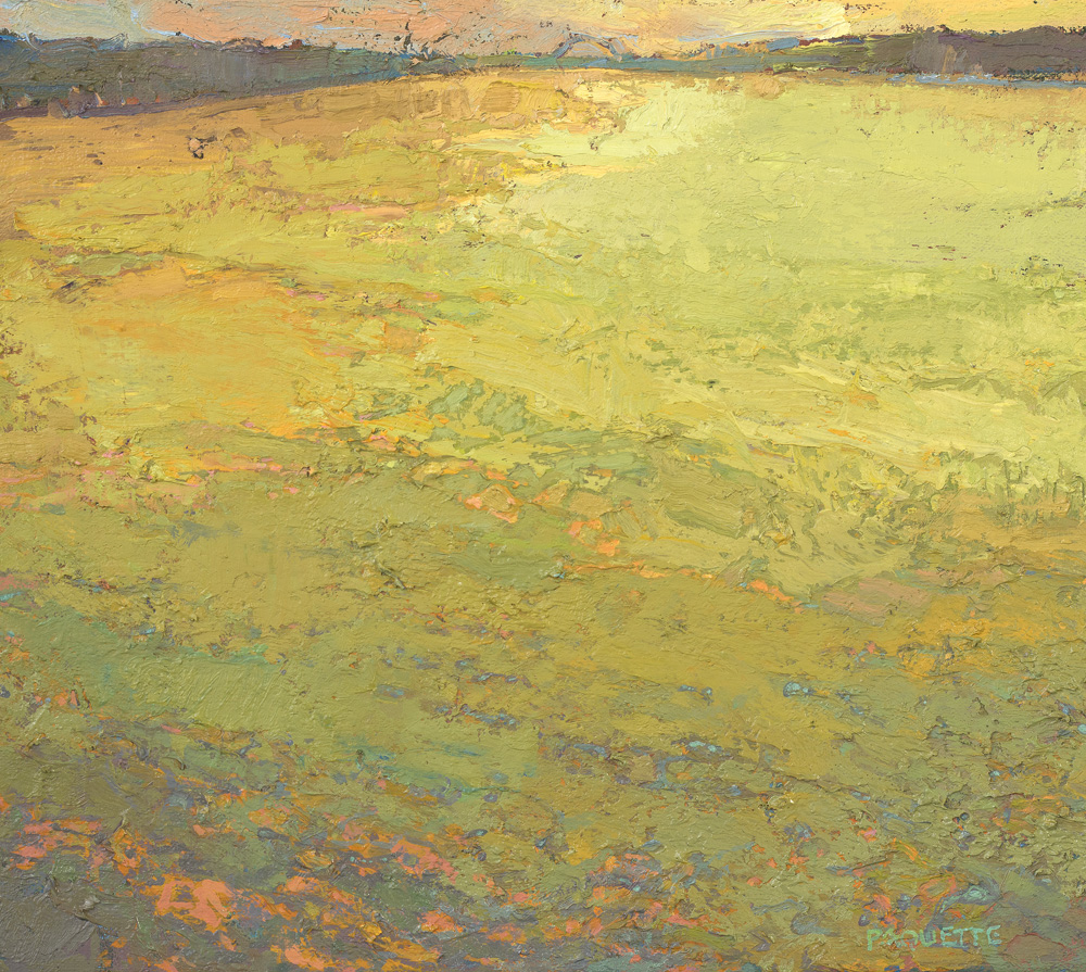"""""""Waterway to I-280"""" Mississippi River oil painting"""