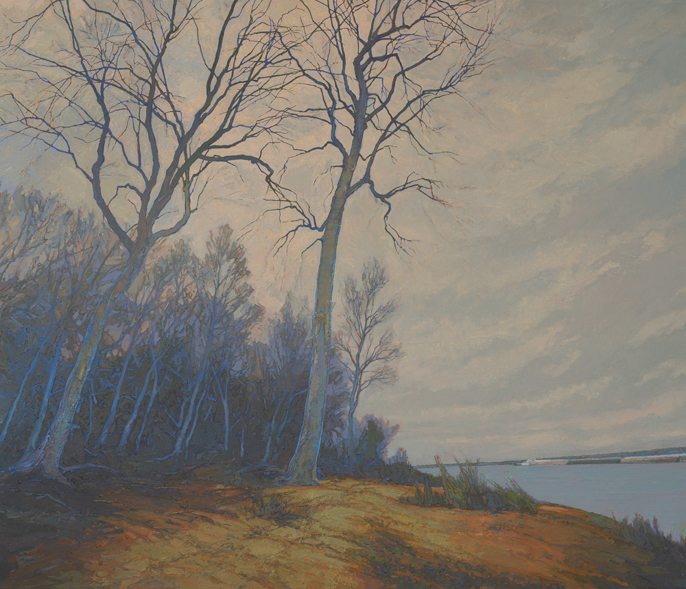 """""""""""Reckoning after the Flood"""" Mississippi River oil painting"""