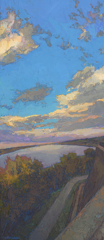 """""""Natchez Bluff Overlook"""" Mississippi River oil painting"""