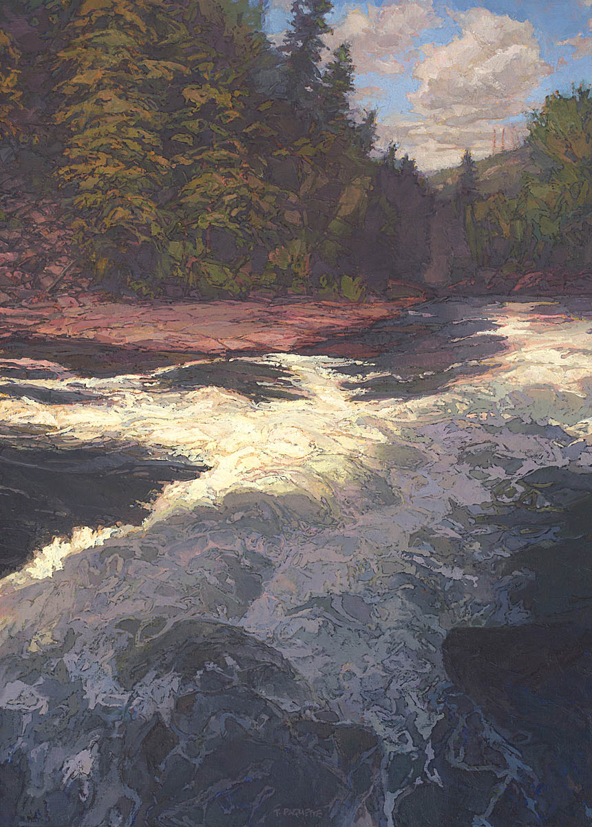 Fryingpan River, Colorado, oil painting by Thomas Paquette