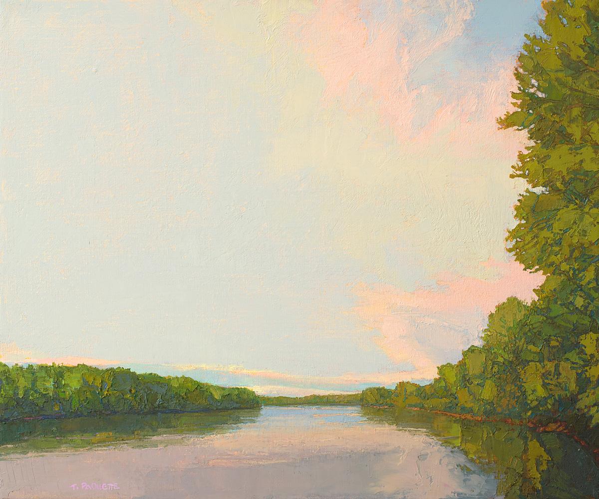 Upriver Calm, oil on linen, 20 x 24
